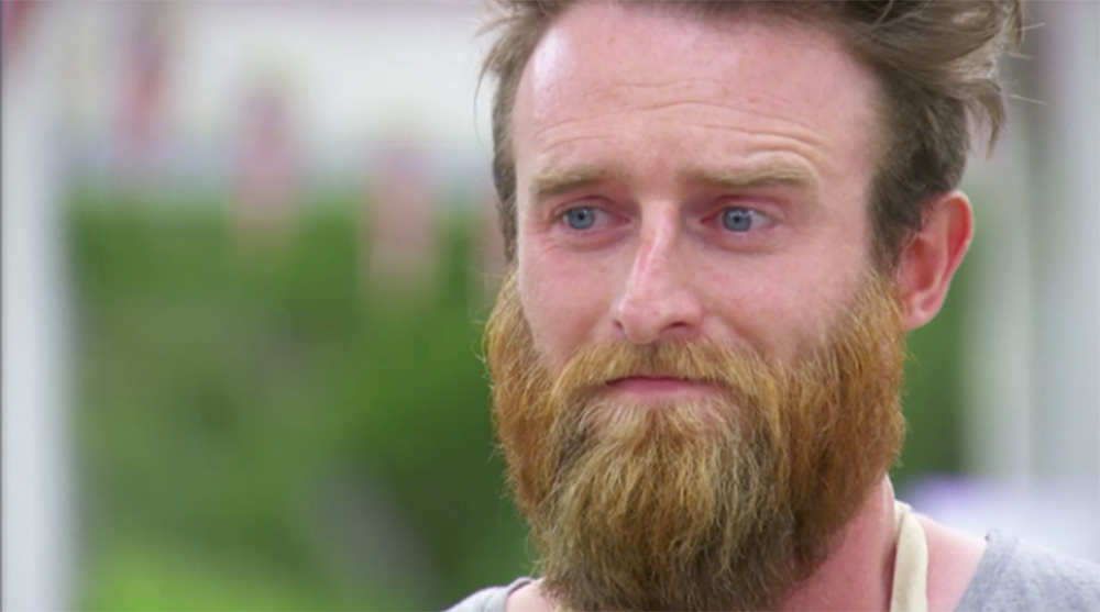 Contestant Iain has a meltdown after the 'Baked Alaska Incident.' (Courtesy of © Love Productions / PBS)