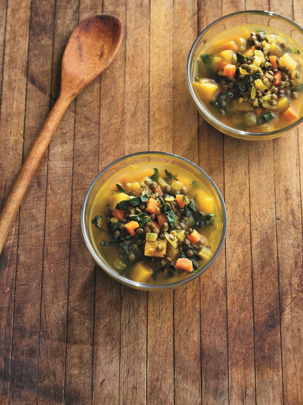 Cozy Lentil Soup with Delicata Squash. Photo: Maren Caruso