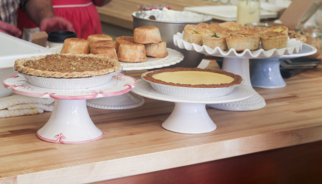 Assortment of whole and mini-pies behind the counter. Photo: Jasmin Porter