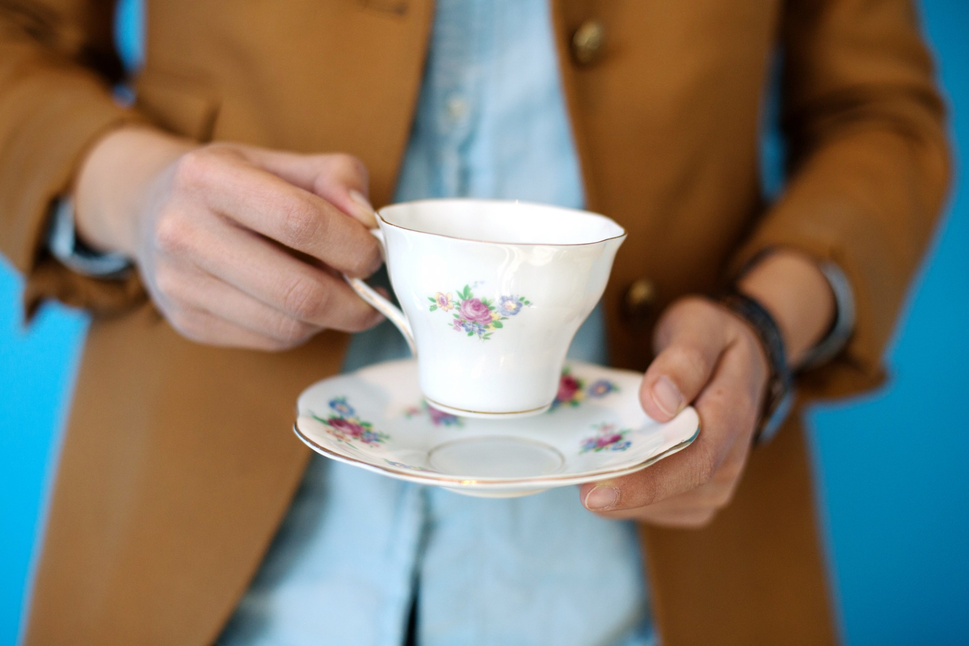 The perfect cup of tea, prepared by Alison Bruzek. Photo: Meredith Rizzo/NPR