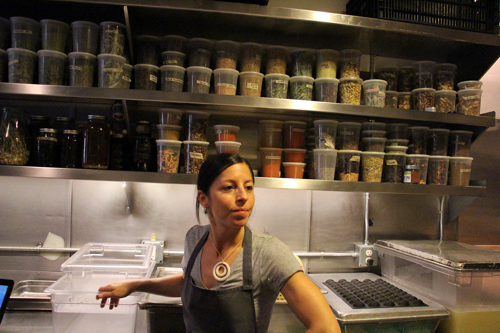 Cortney Burns in the Bar Tartine pantry. Photo: Wendy Goodfriend