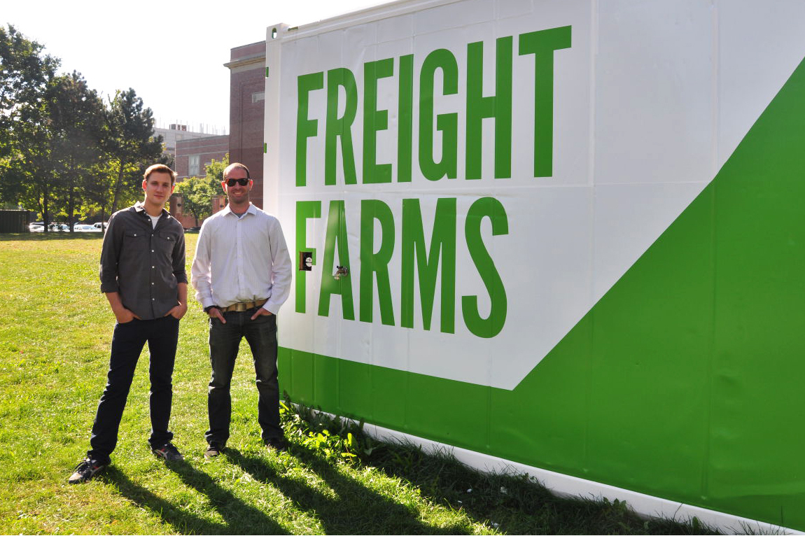 Jon Friedman (left) and Brad McNamara (right) are the co-founders of Freight Farms. Photo: Courtesy of Freight Farms