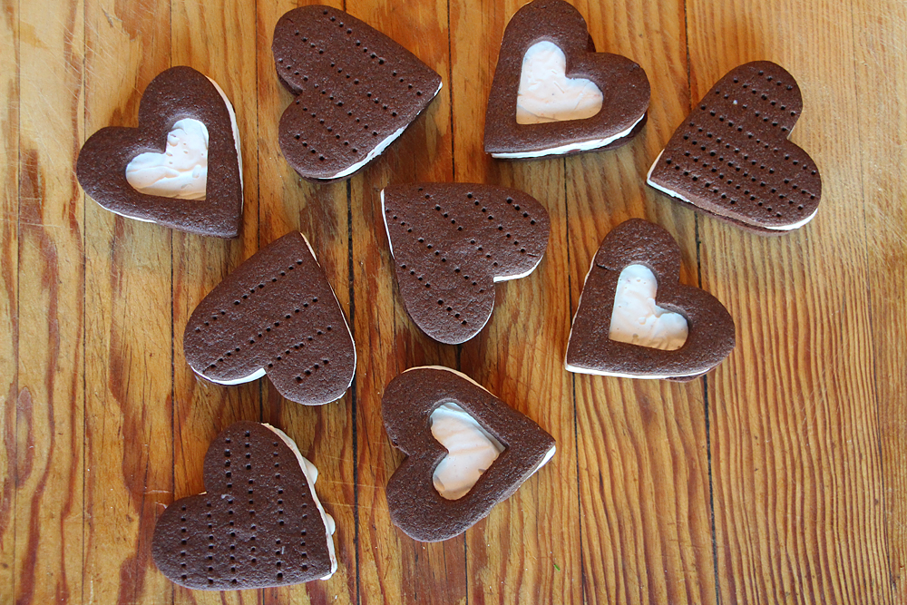 Heart-Shaped Ice Cream Sandwiches. Photo: Wendy Goodfriend
