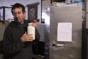 Joel Gruver is the milkman for a group of raw milk drinkers in Macomb, Ill. Photo: Abby Wendle/Harvest Public Media