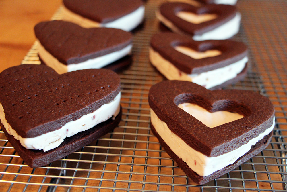 ice cream sandwiches photo wendy goodfriend recipe heart shaped ice ...