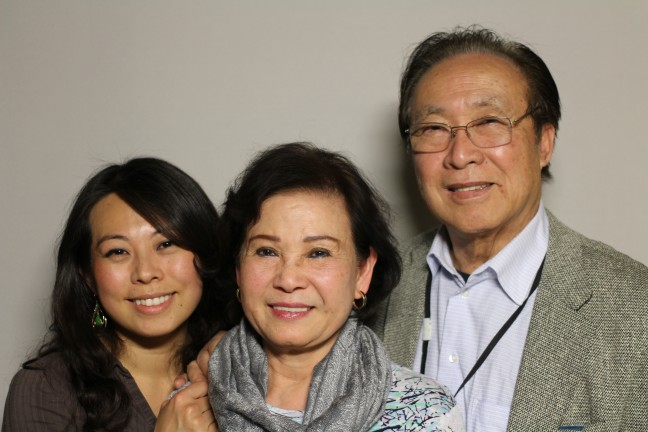 Jenny (My-Viet) Phu and her parents, Jacqueline (Thanh La) Phu and Frank (Dieu Tho) Phu at StoryCorps in San Francisco.