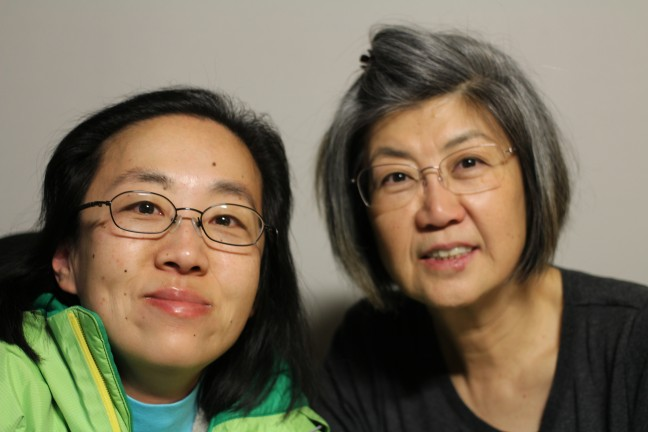 Alice Wong with her mother, Bobbie, in San Francisco.
