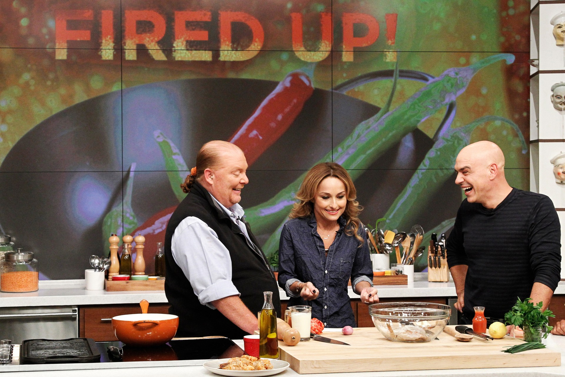 Celebrity chef Giada De Laurentiis during a guest appearance on ABC's The Chew last fall. She can cook rich foods and keep her trim figure, but new research suggests that's a difficult feat for amateur cooks watching along at home. Photo: Lou Rocco/ABC/Getty Images