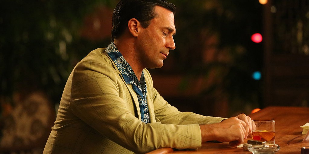 Don Draper (Jon Hamm) alone at the bar. (Photo: AMC)