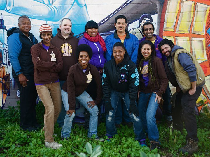 The staff of People's Grocery, a nonprofit whose projects range from educating local kids to subsidized CSA boxes. Photo: People's Grocery