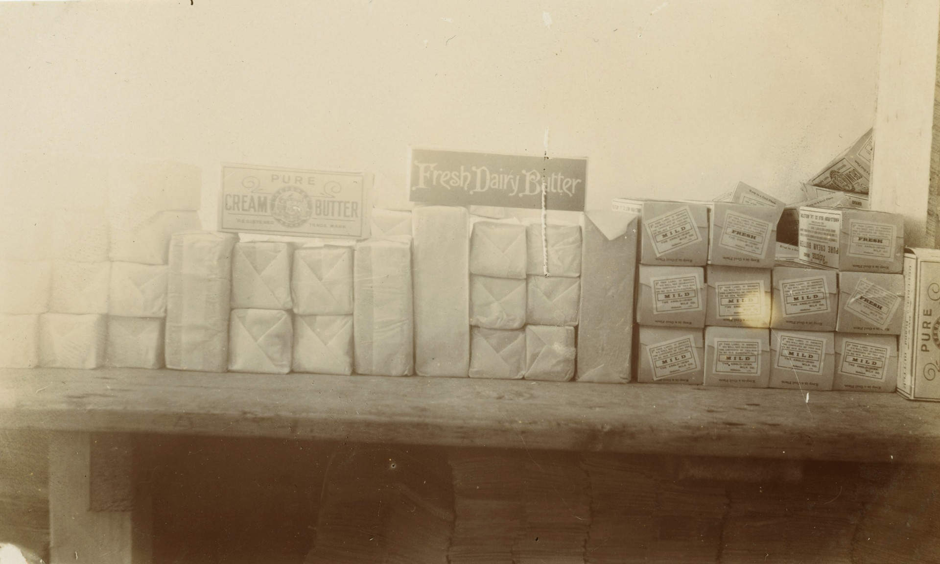 Butter samples from the first quarter of the 20th Century in Ireland. Photo: Cork Butter Museum