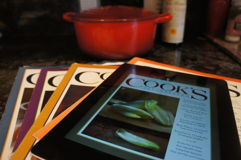 The Cook's Illustrated iPad app is very similar to the magazine, but with extra features. Photo: Angela Johnston