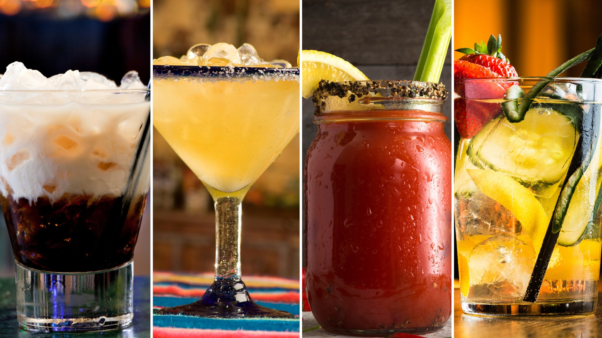 The White Russian (from left), Margarita, Bloody Mary and Moscow Mule are some of the most searched cocktails of 2015. Photo: iStockphoto