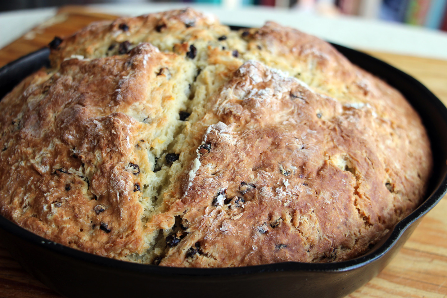 Easy to Make for St. Patrick's Day: Irish Soda Bread with Currants and Orange Zest