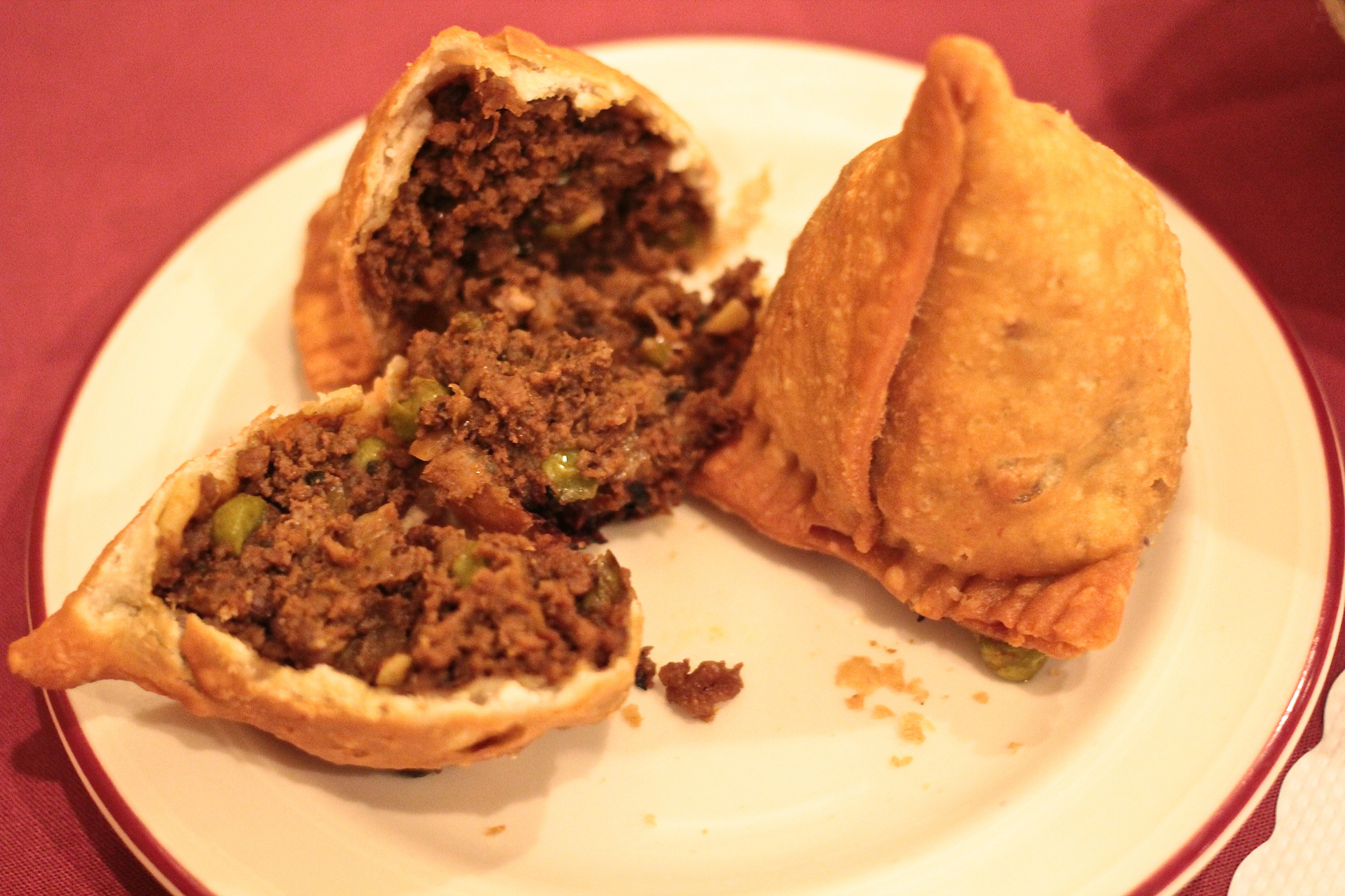 A Ed Beef Samosa At Darbar Indian Cuisine Jeff Cianci
