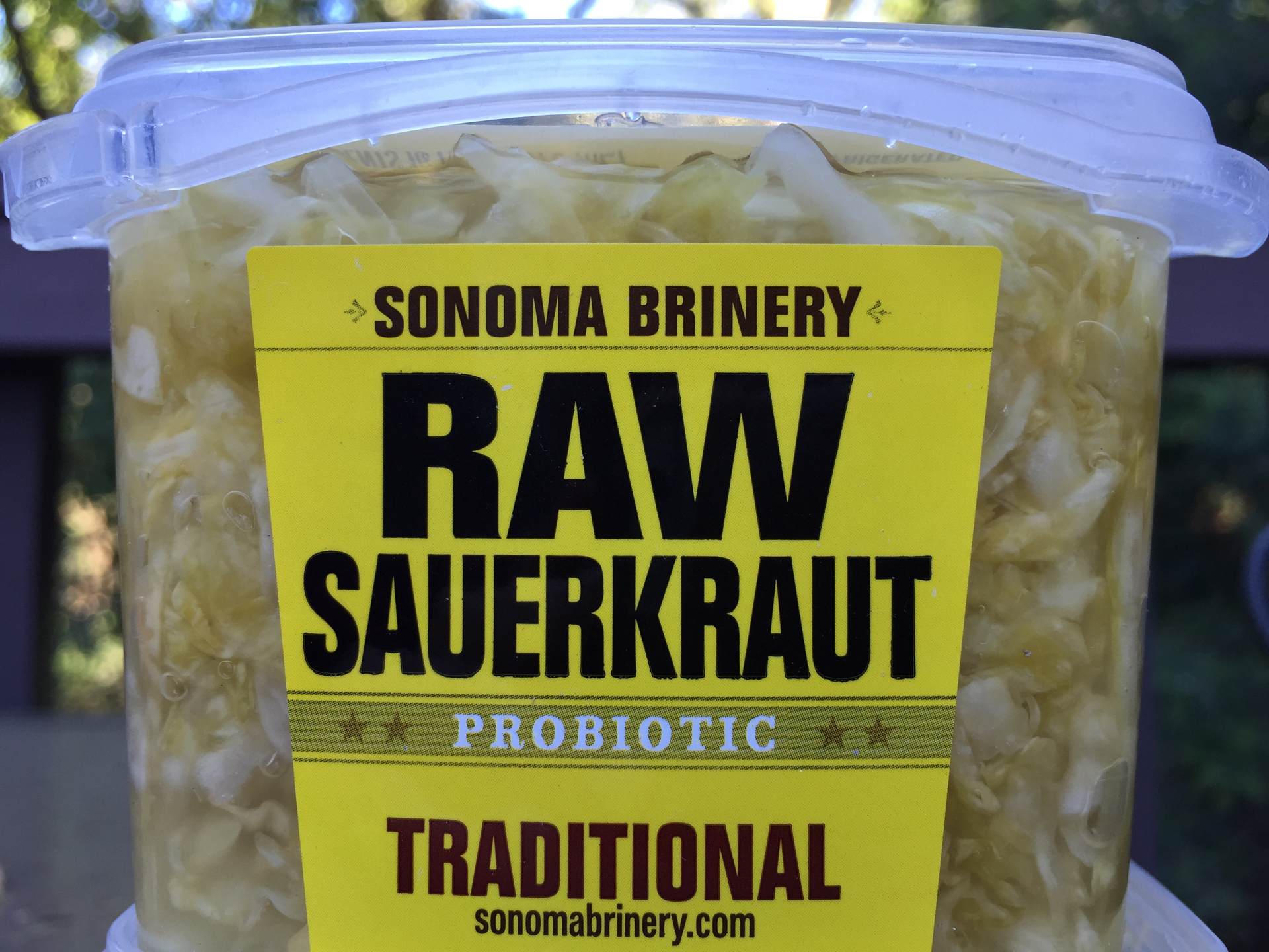 Sonoma Brinery's Raw Sauerkraut.