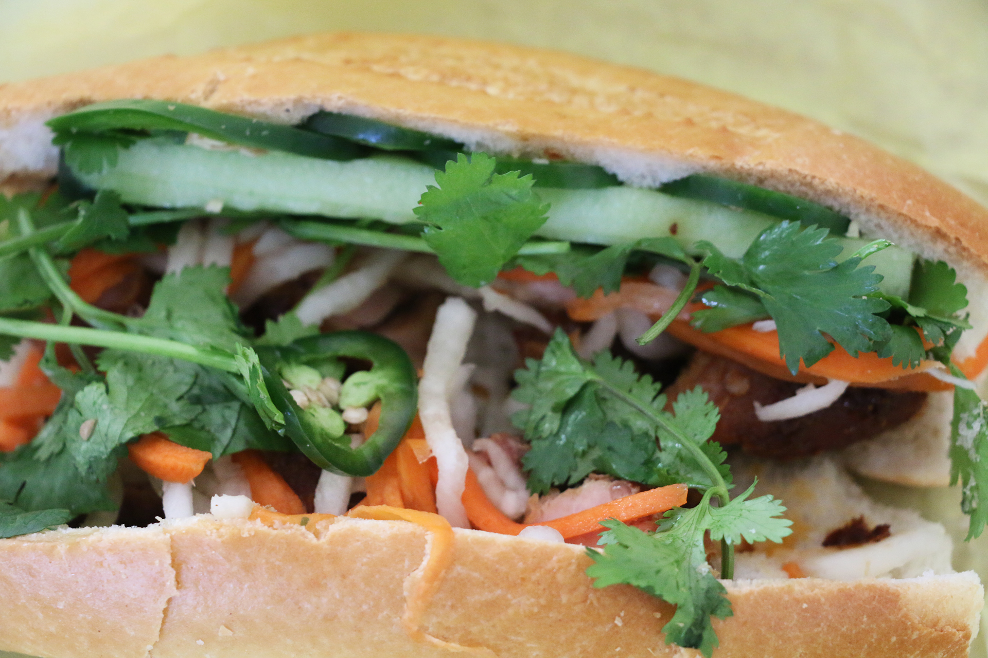 Ba Le grilled chicken banh mi