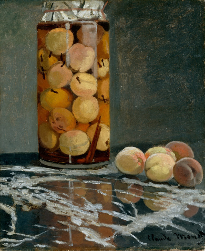 Monet's<em> Jar of Peaches</em>, circa 1866. The artist grew peaches along the wall of his kitchen garden.