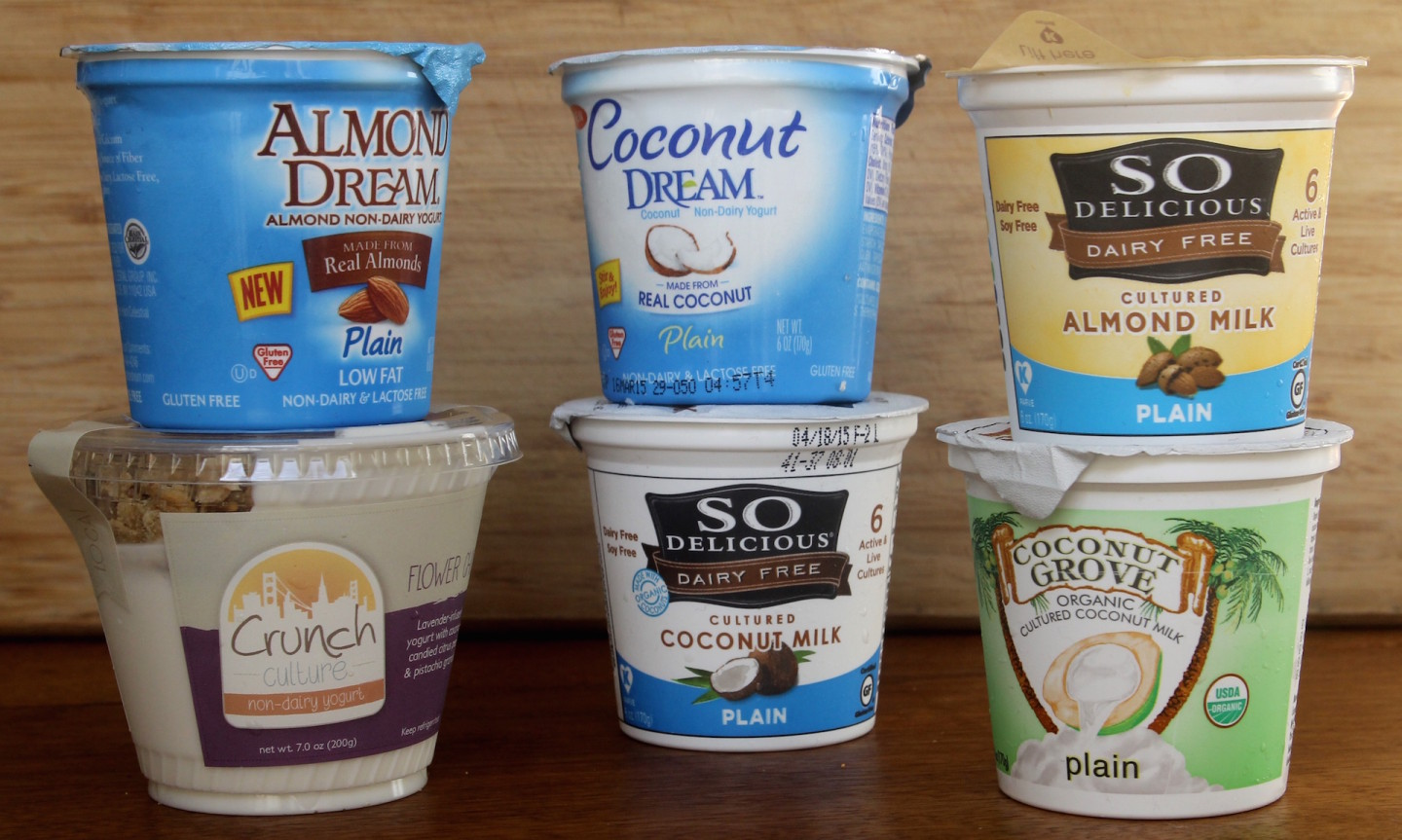 Six almond and coconut milk yogurts are now available in the Bay Area.