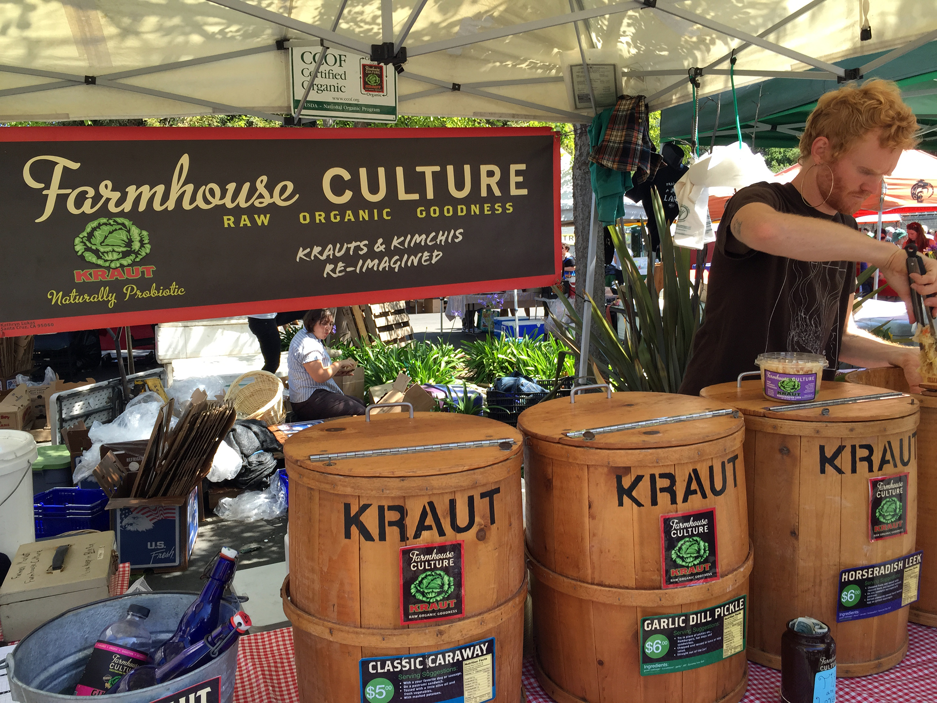 Farmhouse Culture of Santa Cruz at the Temescal Farmers' Market in Oakland