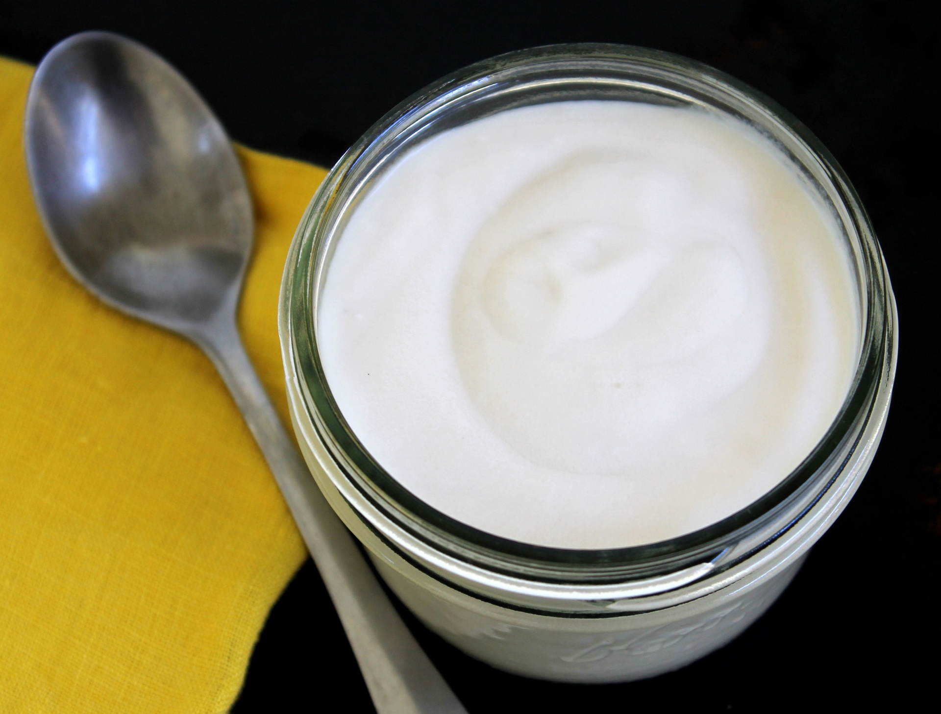 Homemade coconut and almond milk yogurt.