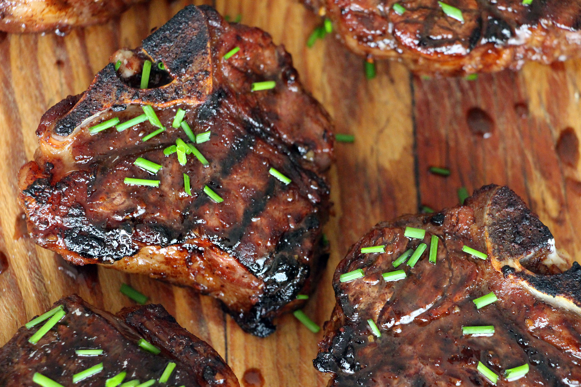 Five-spice lamb chops