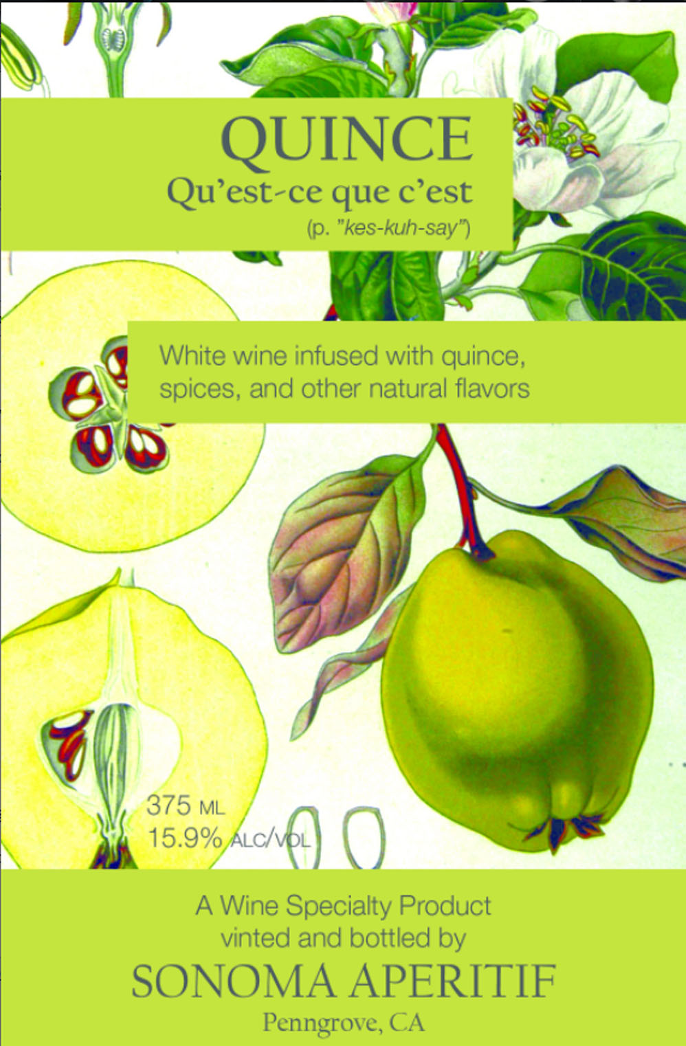Quince label