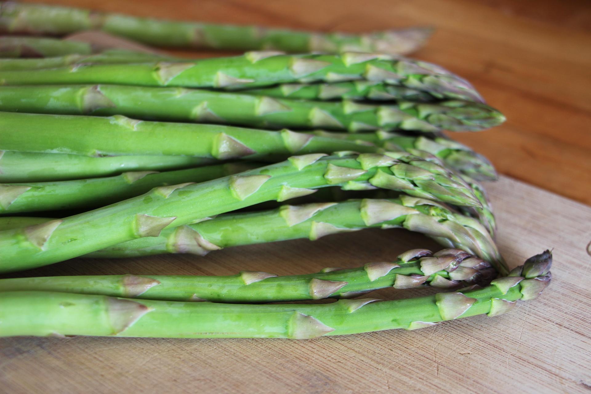 Fresh springtime asparagus.