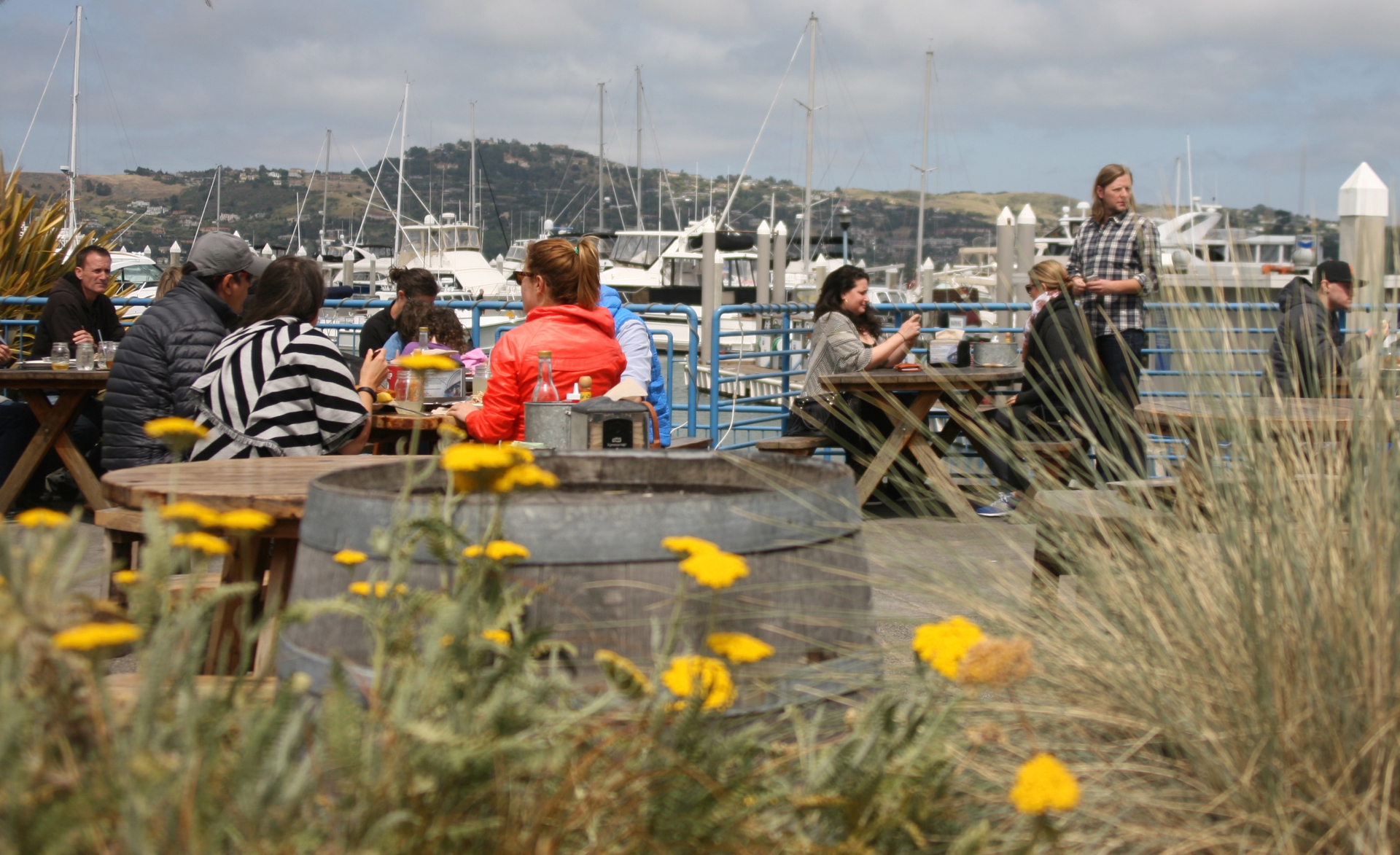 Ultra-casual outdoor dining on the Sausalito harbor at Fish.