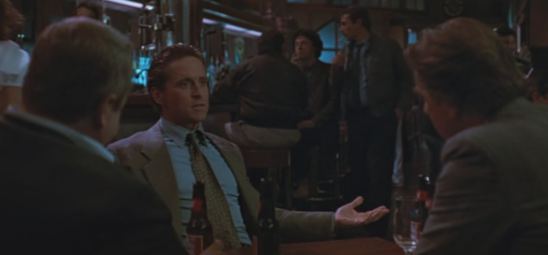 Michael Douglas, hanging out in character in San Francisco's Tosca Cafe