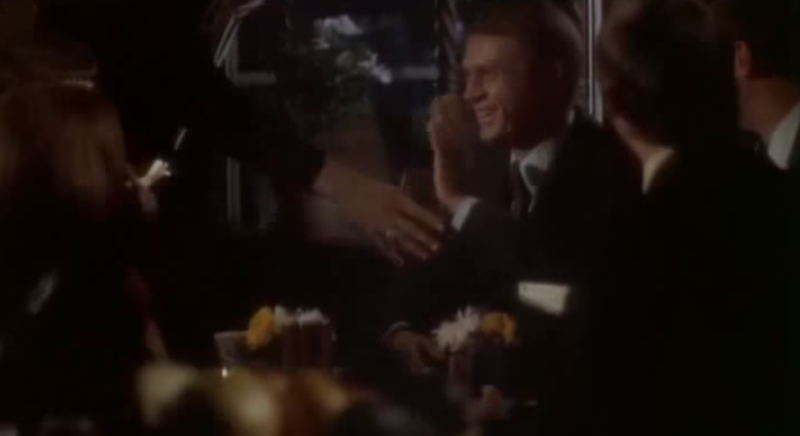 Steve McQueen and Jacqueline Bisset hang out at the long-departed Cantata Cafe in San Francisco