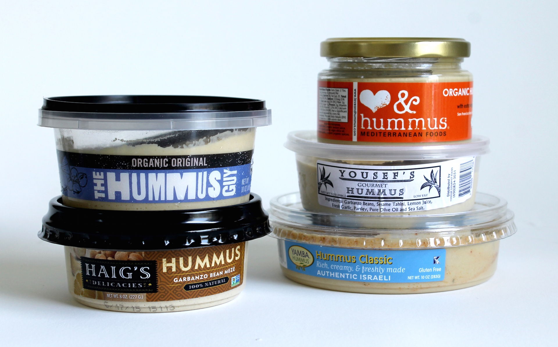 A sampling of Bay Area-made hummus.