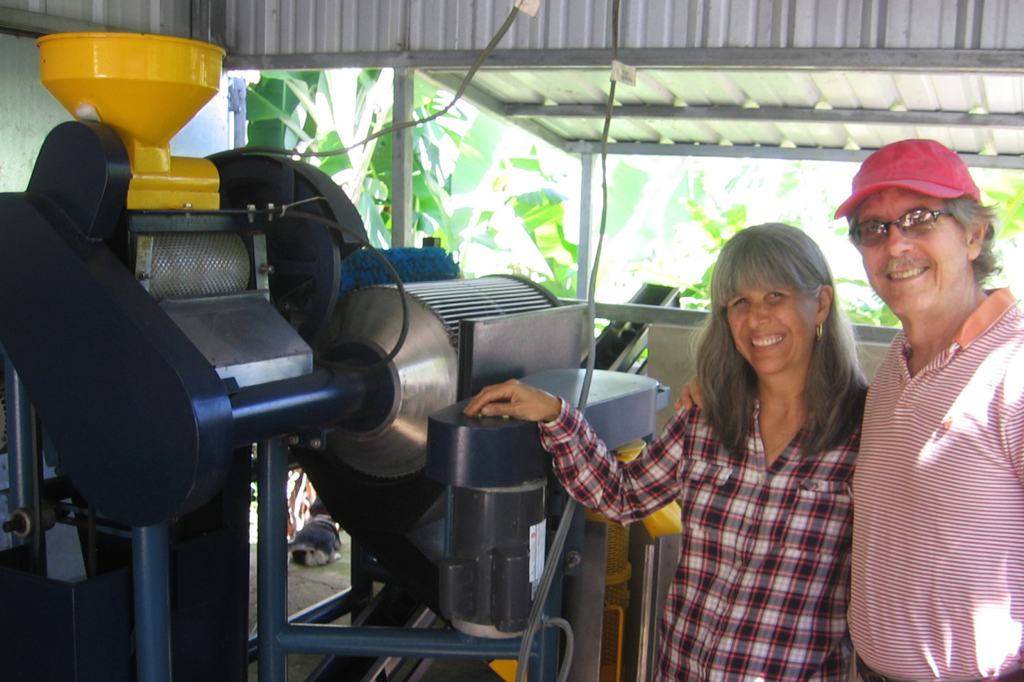 Elena Biamon and her husband, Miguel Sastre, have invested in this depulper and other equipment to process the coffee they grow.