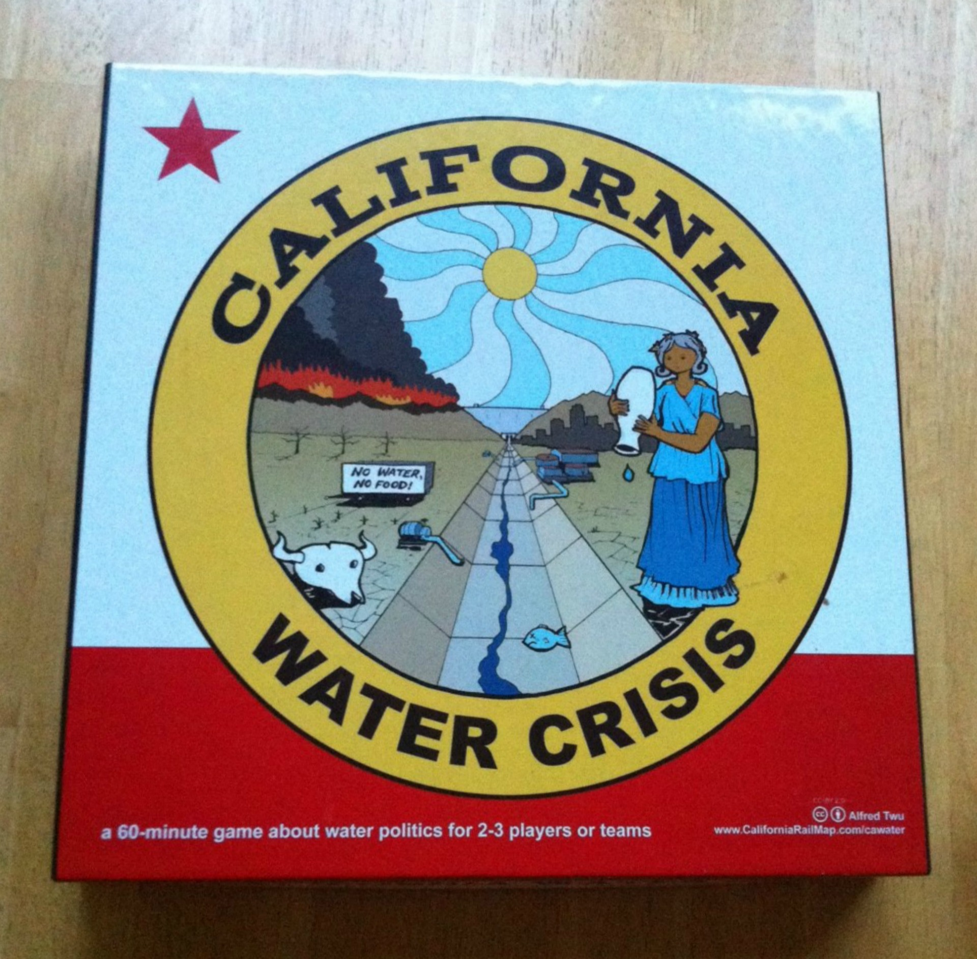 The signs are so iconic they were even featured in this Kickstarter funded board game about California's water issues. Photo: Shelby Pope