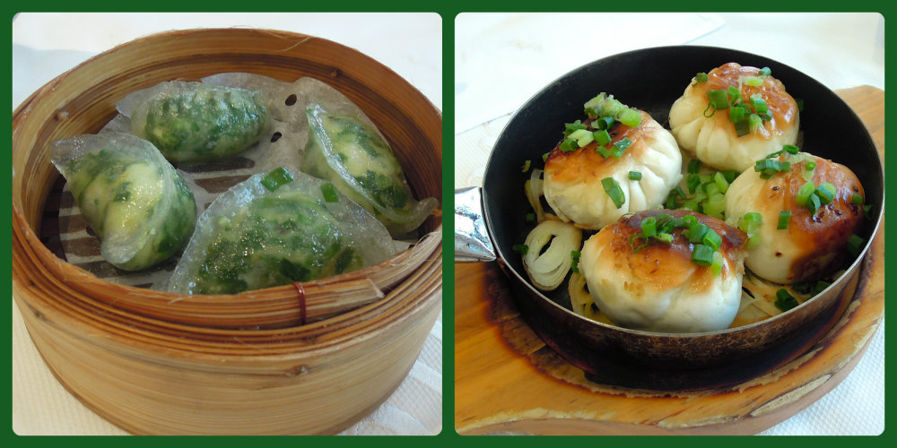 Serenade's shrimp and chive dumpling and pan-fried pork buns.