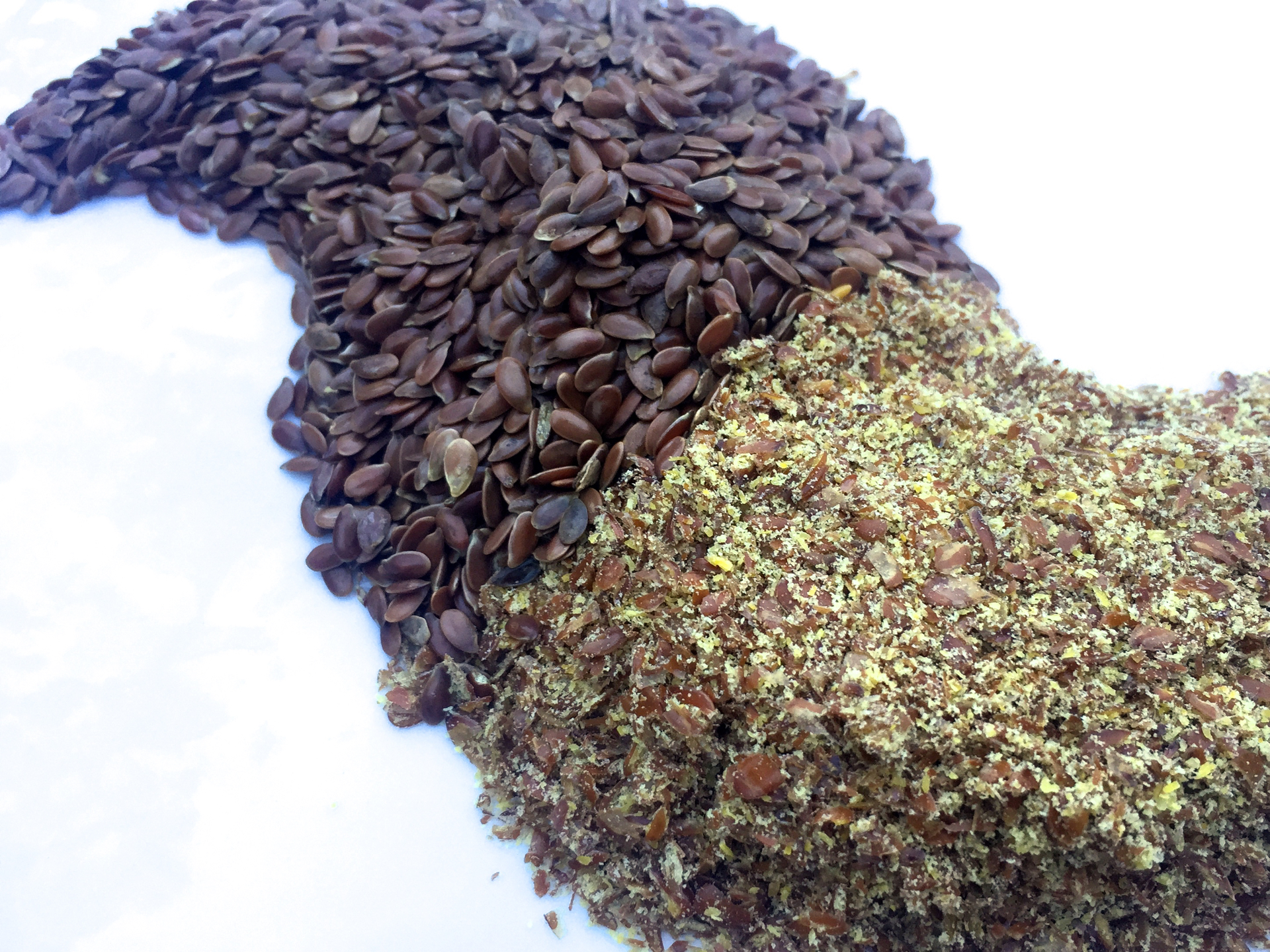 Flax seeds sold in bulk.