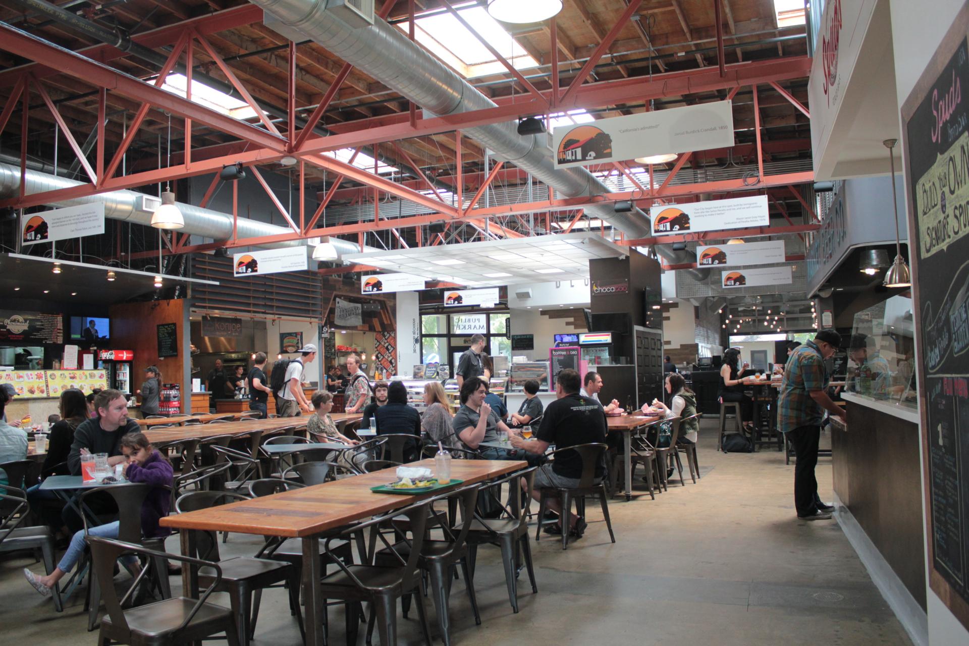 Customers Inside The San Pedro Square Market In Jose Jeff Cianci