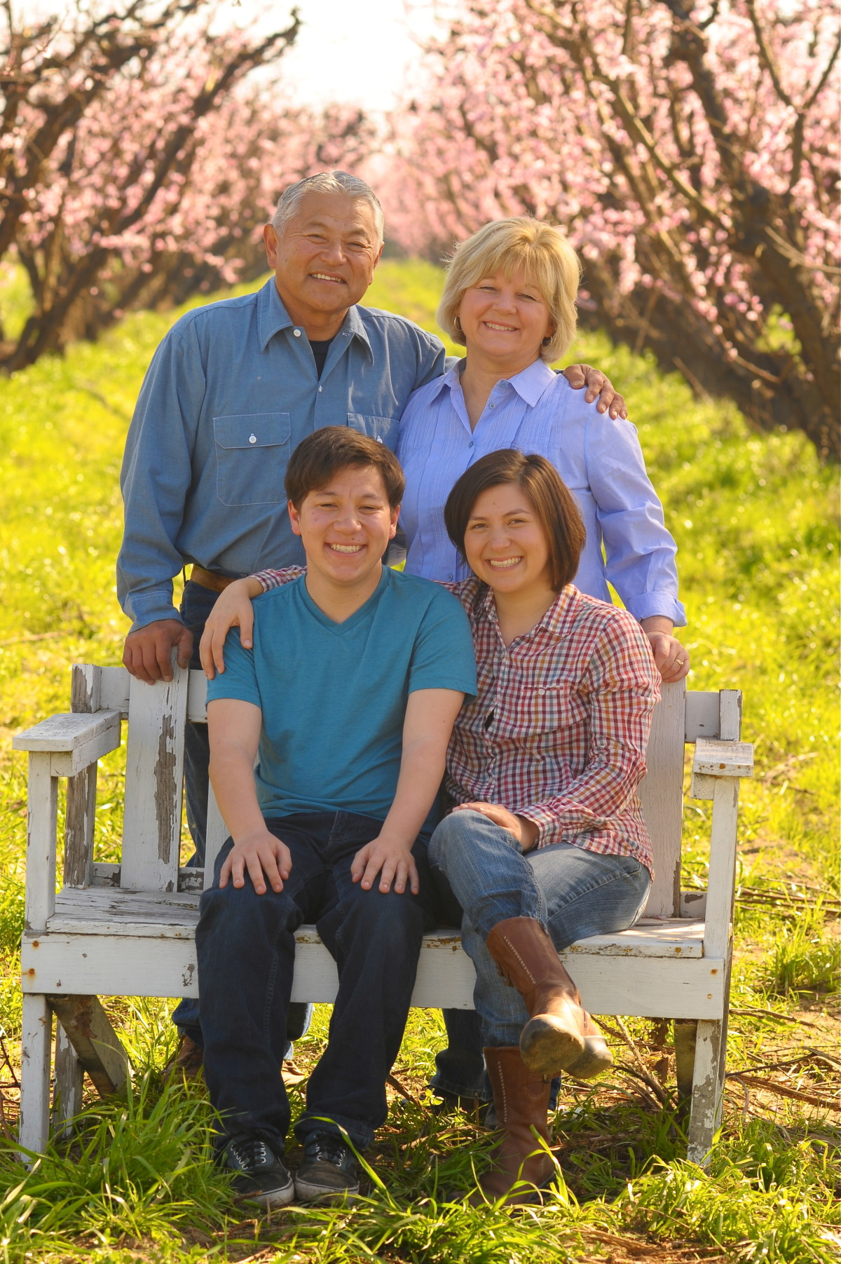 The Masumoto family before the drought.