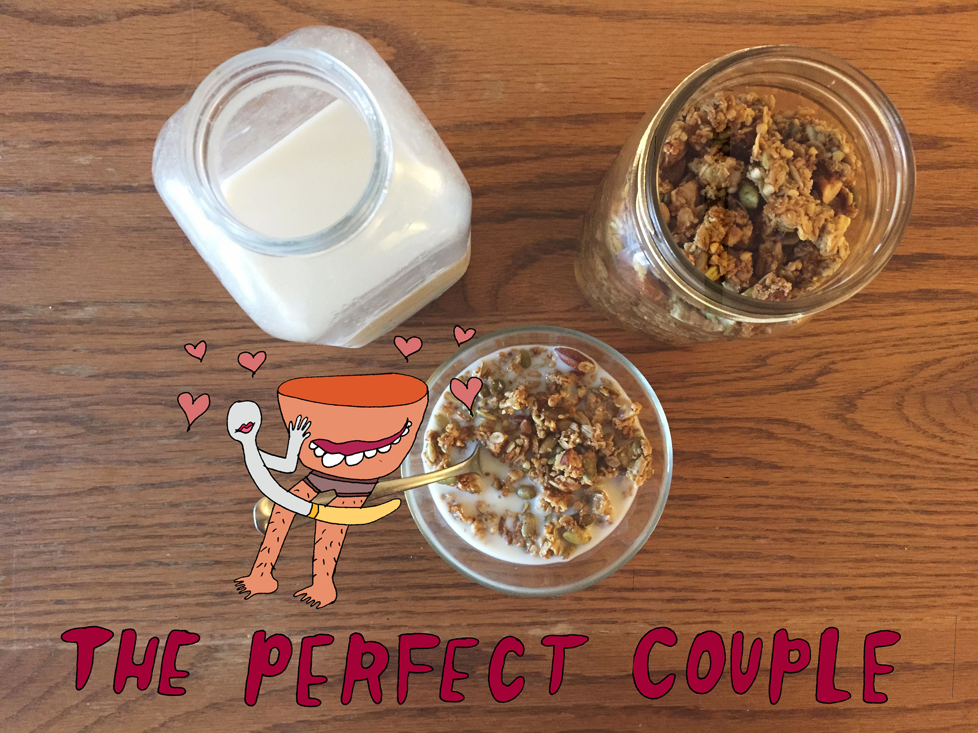 The Perfect Couple: Granola and Almond Milk