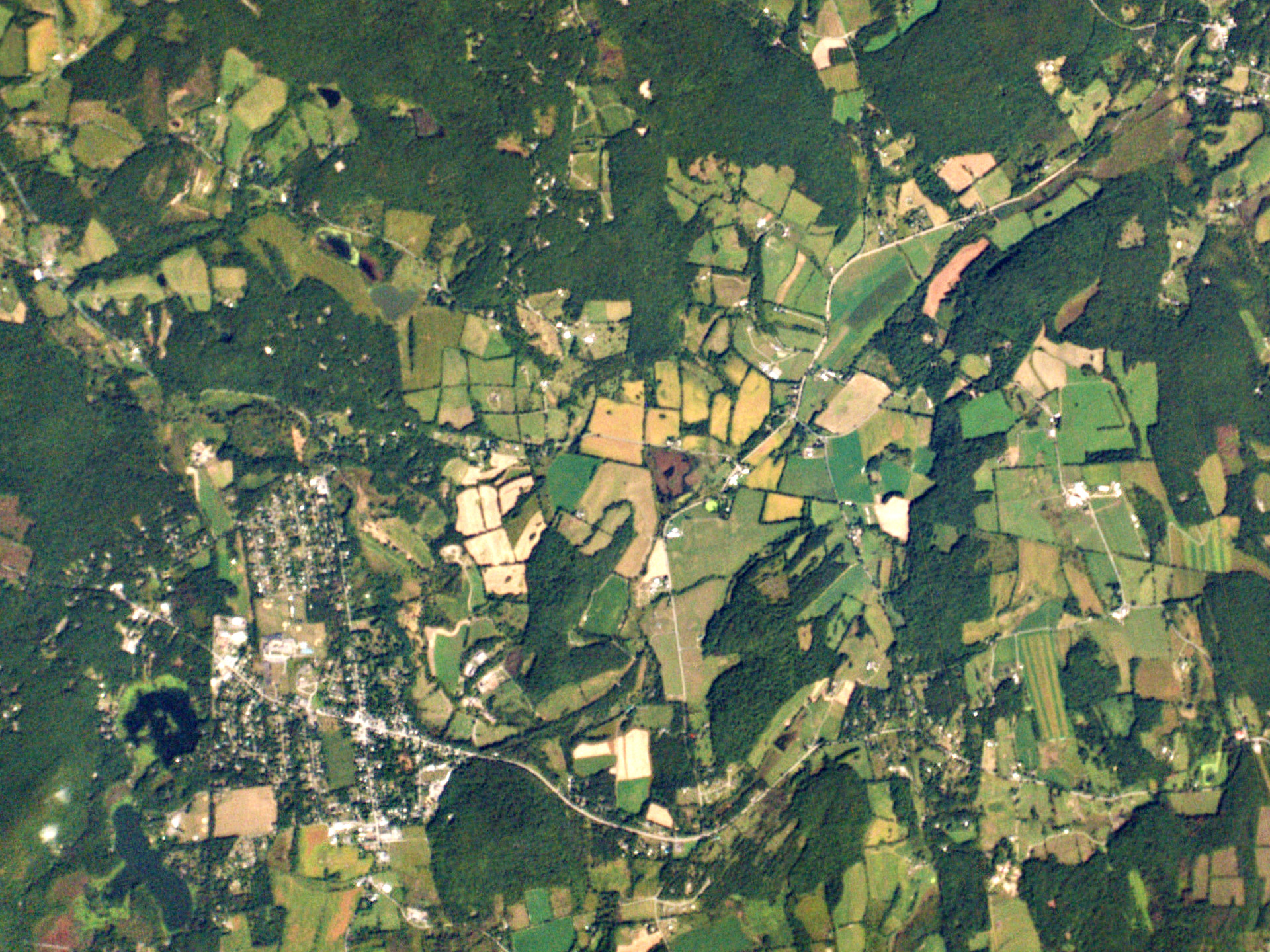 Pine Plains, N.Y. is an agricultural community about 100 miles from New York City, photographed here on Sept. 17, 2014. The U.C. Merced researchers estimate that New York City could potentially fulfill about 30 percent of its food needs with food grown within 100 miles of the city.
