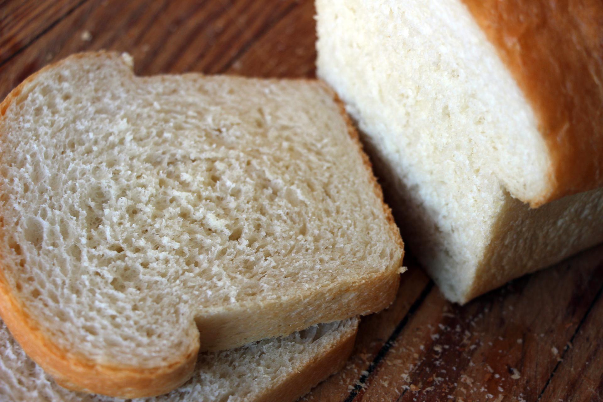 Sliced Homemade White Sandwich Bread