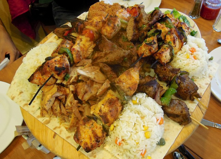 Kobani's mixed grill platter is enough to feed a crowd.