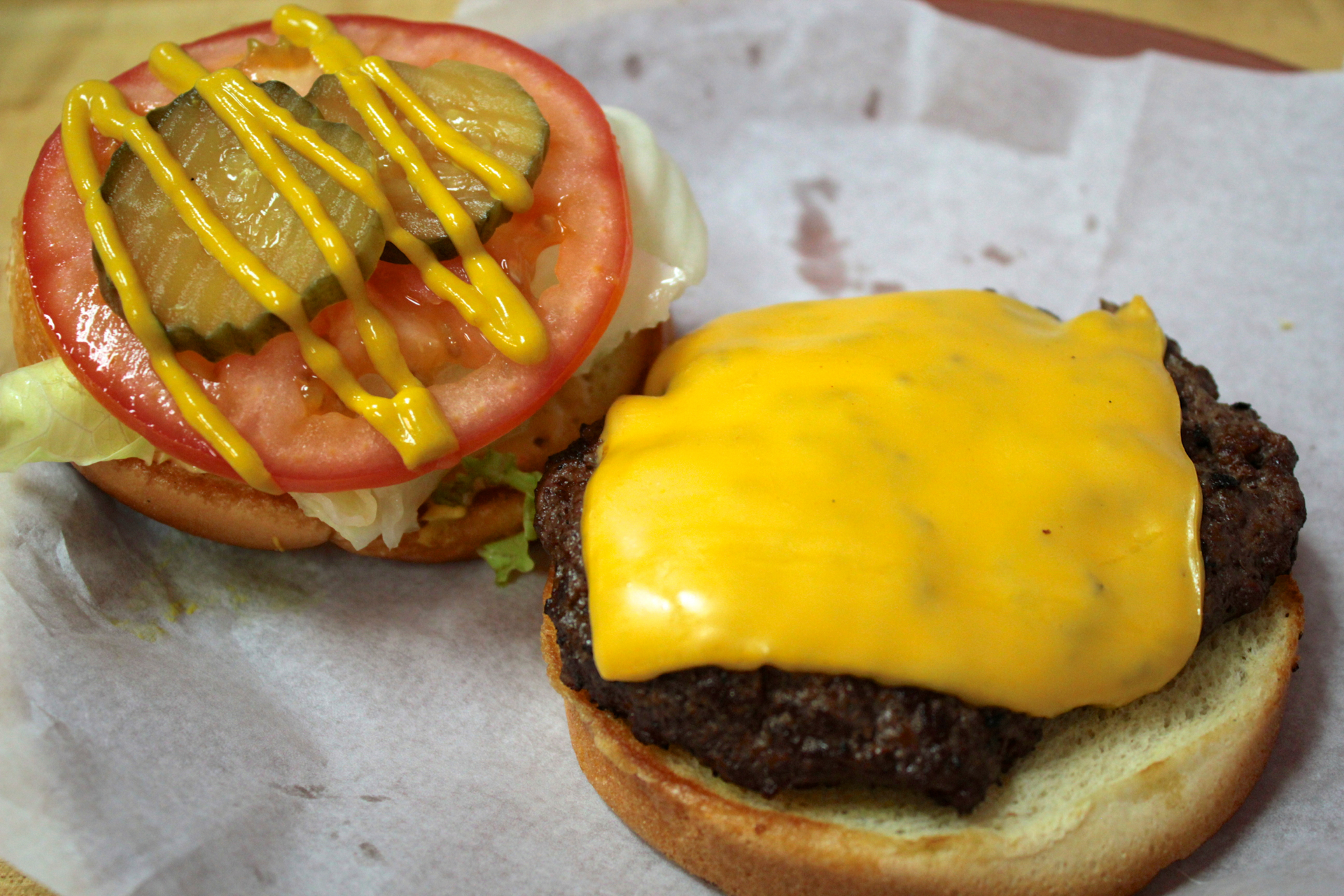 A Cheeseburger With Toppings From The Condiment Bar. (Jeff Cianci)
