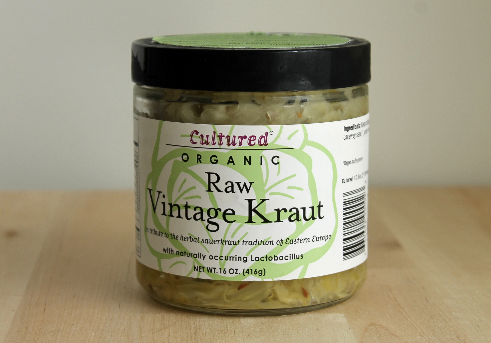 Cultured Organic sauerkraut.