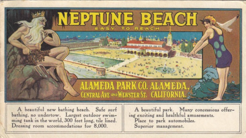 A 1917 ad for Alameda's Neptune Beach Source: Alamedainfo.com