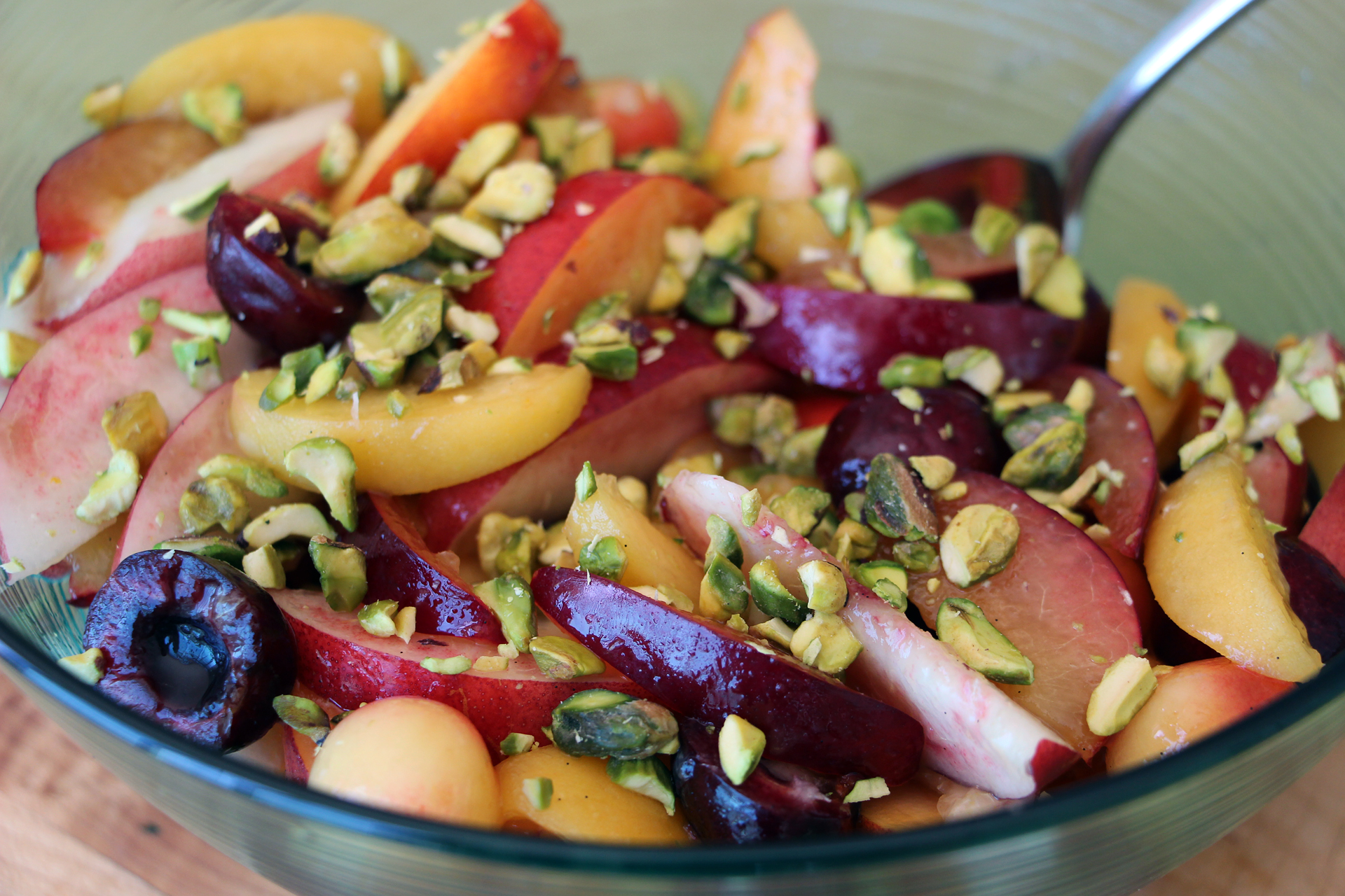 Serve Summer Stone Fruit Salad.