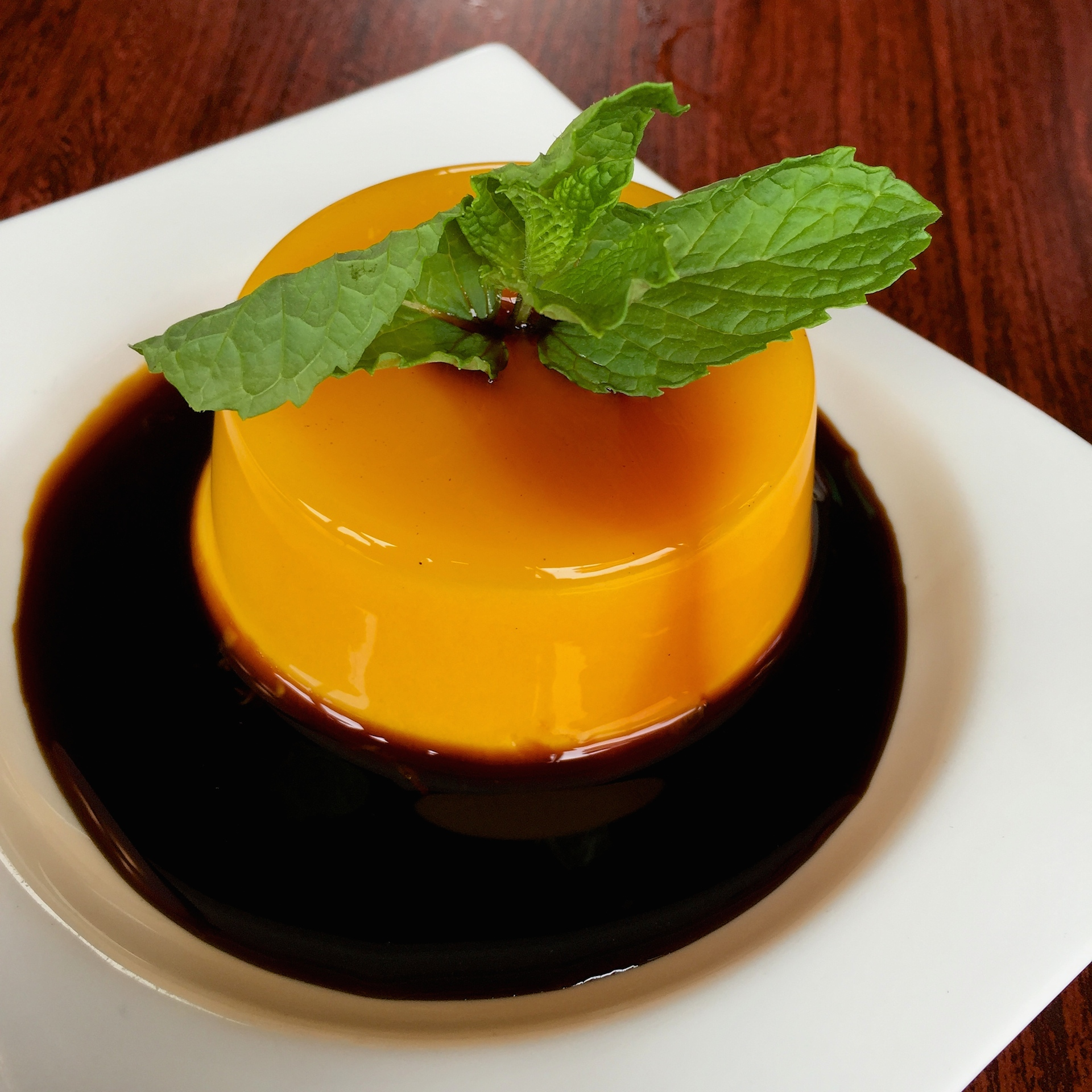 Monster Pho's flan with coffee syrup.
