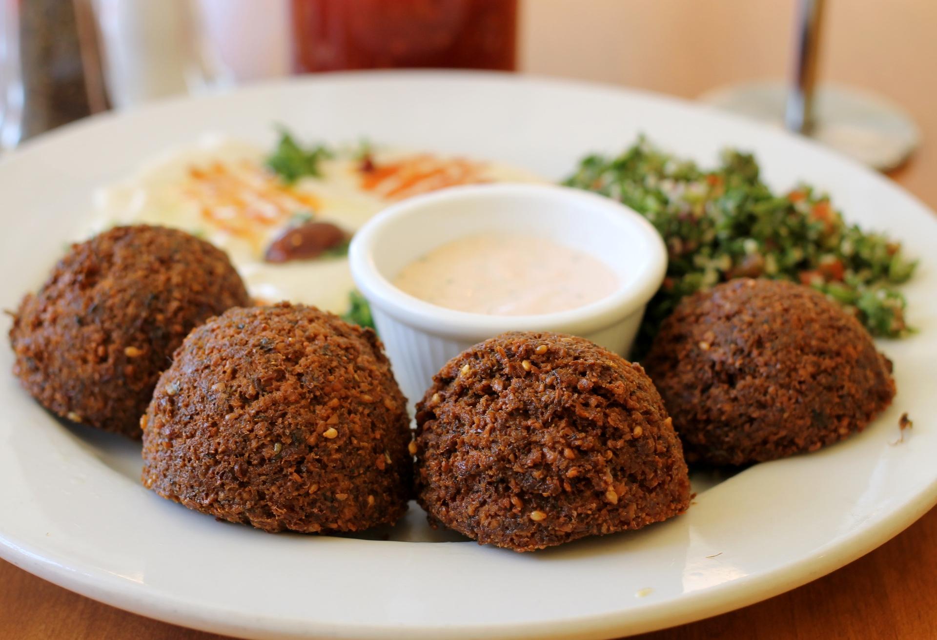 Falafel, hummus and tabouli salad at Kobani in Berkeley.