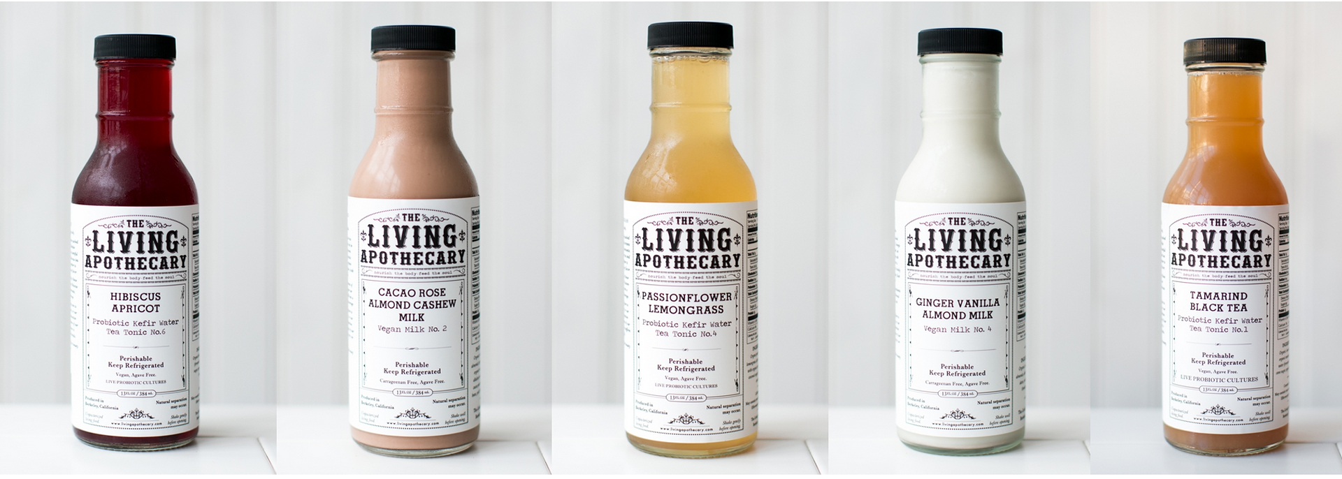 The Living Apothecary is known for its flavored almond milks and pro-biotic tonics.