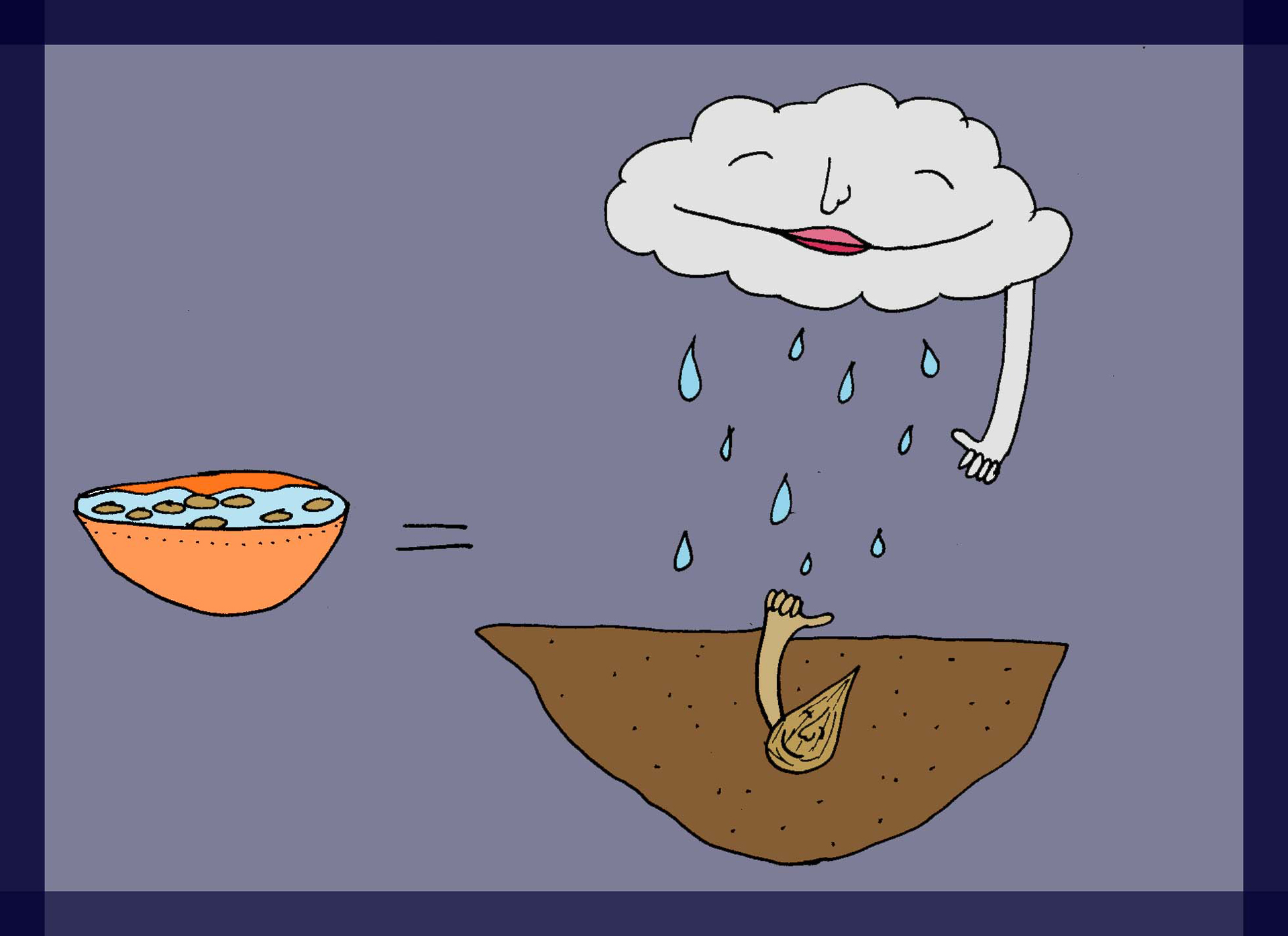"""Soaking simulates """"rain."""""""